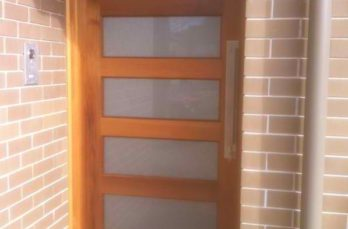 Frosted Glass Entry Door
