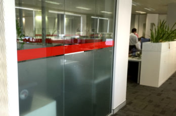 Frosted Glass with Coloured Vinyl